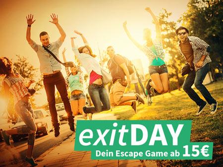 Mittwoch ist exitDAY - Dein Escape Game Erlebnis ab 15€